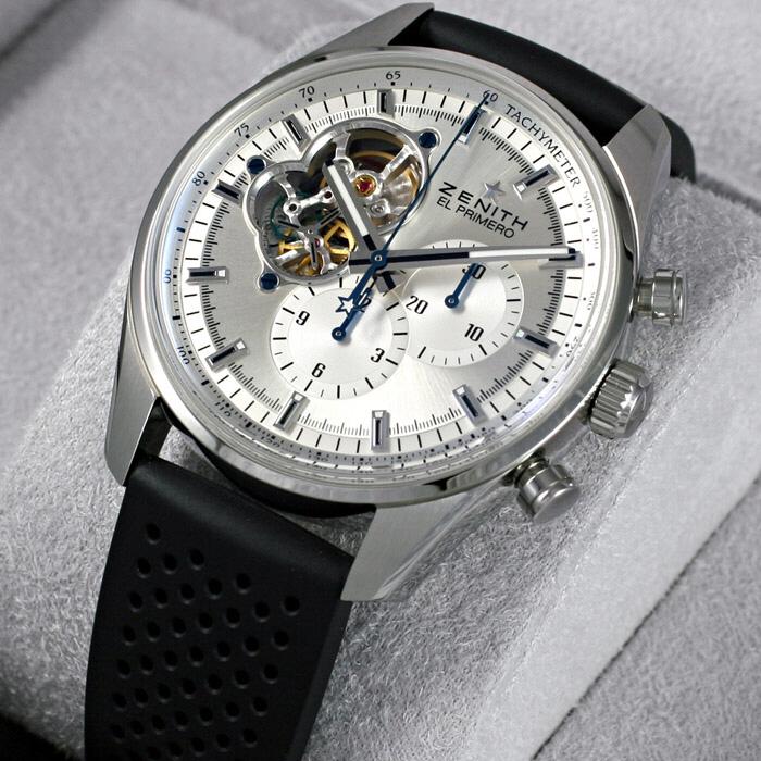 [추가비용없음] 제니스 Zenith  03.2040.4061/01.R576 EL PRIMERO CHRONOMASTER 1969 Silver Dial